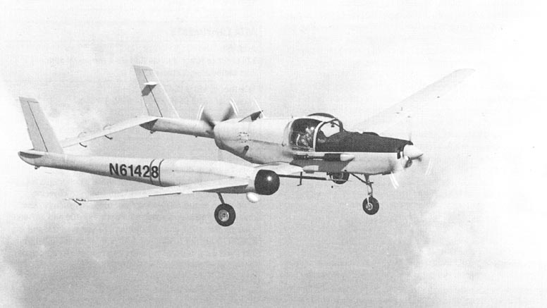 The Schweizer RU-38 Twin Condor is a two or three-seat, fixed gear, low wing